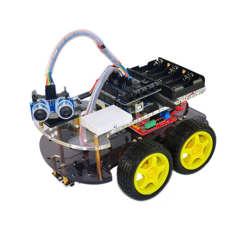 Multi-function Robot Car Kit Bluetooth Chassis Suit Tracking Compatible Uno R3 Diy Rc Electronic Toy Robot With Lcd1602 Active Components