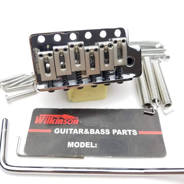 ווילקינסון 6 בורג סוג ST גיטרה חשמלית טרמולו מערכת גשר לstrat גיטרה כרום כסף WOV02