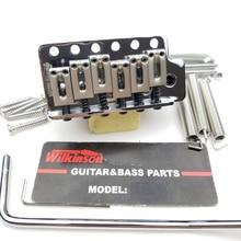 Wilkinson 6 스크류 타입 ST 일렉트릭 기타 트레몰로 시스템 브릿지 Strat 기타 크롬 실버 WOV02