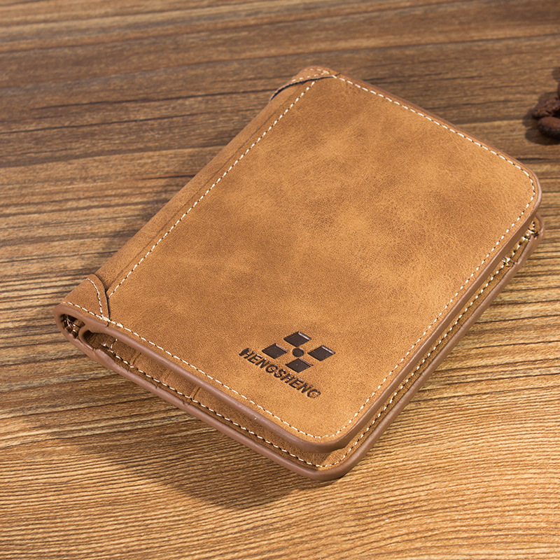 New Short matte Leather Men Wallets Man Famous Small Short portomonee with Coin Zipper Mini Male Purses Card Holder Walet hot sale leather men s wallets famous brand casual short purses male small wallets cash card holder high quality money bags 2017