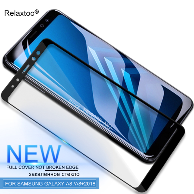 For Samsung A8 2018 Case Srcreen Protector Tempered Glass For Samsung Galaxy A8 plus 2018 A8plus A8+2018 A730 A530 Cover Film