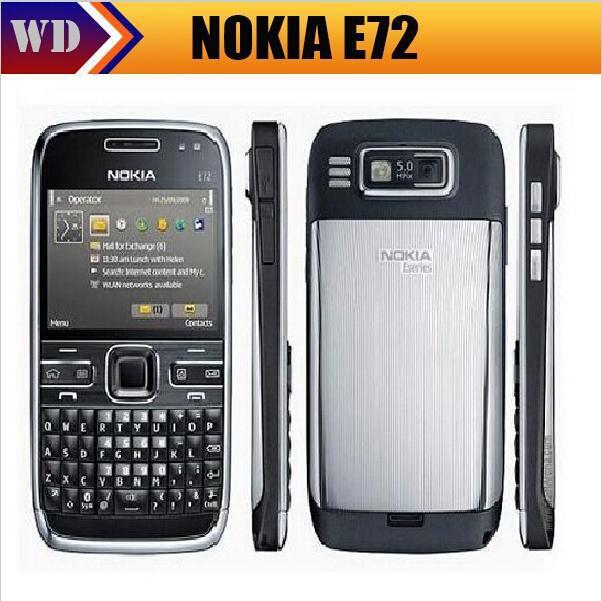 Цена за Оригинал nokia e72 разблокирована 3 г wi fi gps мобильного телефона русская клавиатура и язык горячая продажа восстановленное