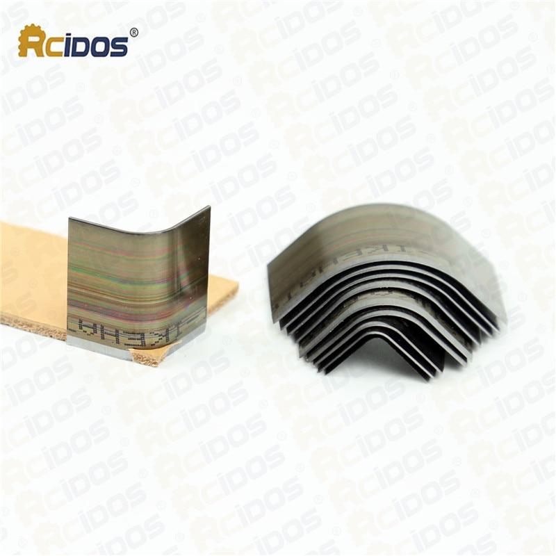 RCIDOS leather wallet corner trimmer,Handwork Leather Belt corner punch cutter,Japan Steel leather fillet 10pcs/box