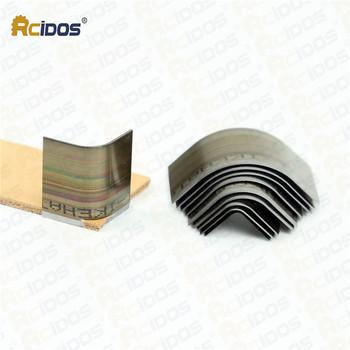 RCIDOS skórzany portfel narożny trymer ręczny skórzany wykrawarka narożna Japan stalowy skórzany filet 10 sztuk pudło tanie i dobre opinie 2 3 5 6 8 10 12 14 16 18mm Japan Steel blade 23 8*0 71mm