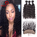 7A Indian Virgin Hair Natural Wave With Closure 3 Bundles With Closure Ear To Ear Lace Frontal Closure With Bundles Gossip Girl