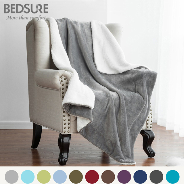 Bedsure Sherpa Blanket Warm Soft Fleece Blankets Throw On Sofa Bed Awesome Bedsure Sherpa Blanket Throw Blankets