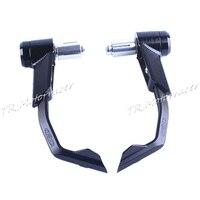 Universal 22mm Protector Handlebar Brake Clutch Protect Motorcycle Lever Guard Proguard Aluminum ABS Plastic Black