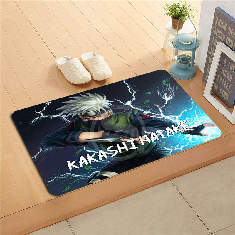 W530L36 Custom Naruto Art Watercolor Painting Doormat Home Decor Door mat Floor Mat Bath ...