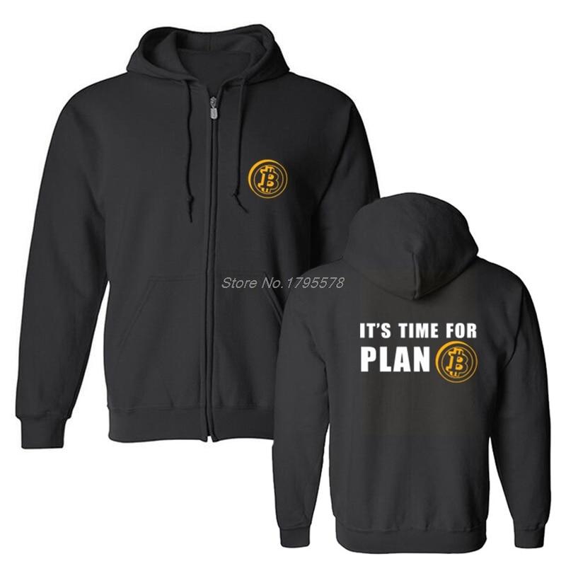 Time For Plan Bitcoin BTC Crypto Currency Sweatshirt Fleece Custom Hoodies Cotton Hoody Casual Men Hoodie Coat Tops 1