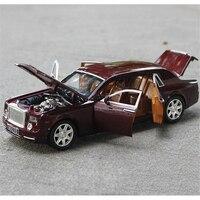 1 24 Phantom Lengthened Car Diecast Alloy Car Model Six Door High End Model Light Models