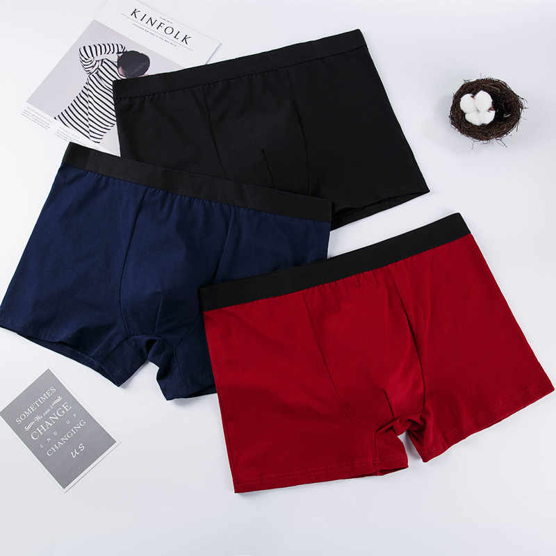 9327630a55f2e4 ... Rogrdnan 2018 Shorts Mens 3Pcs\lot Underwear Soft Boxers Cotton Boxer  Men Solid Boxer Shorts