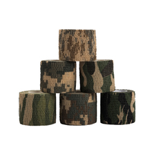6ps/set Self-adhesive Telescopic 5cmx4.5m Camouflage Wrap Rifle Hunting Shooting Cycling Tape Waterproof Camo Stealth Tape