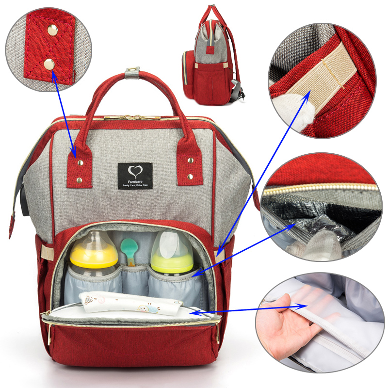 Waterproof Diaper Bag- Nursing Backpack | Travel With Jaiden