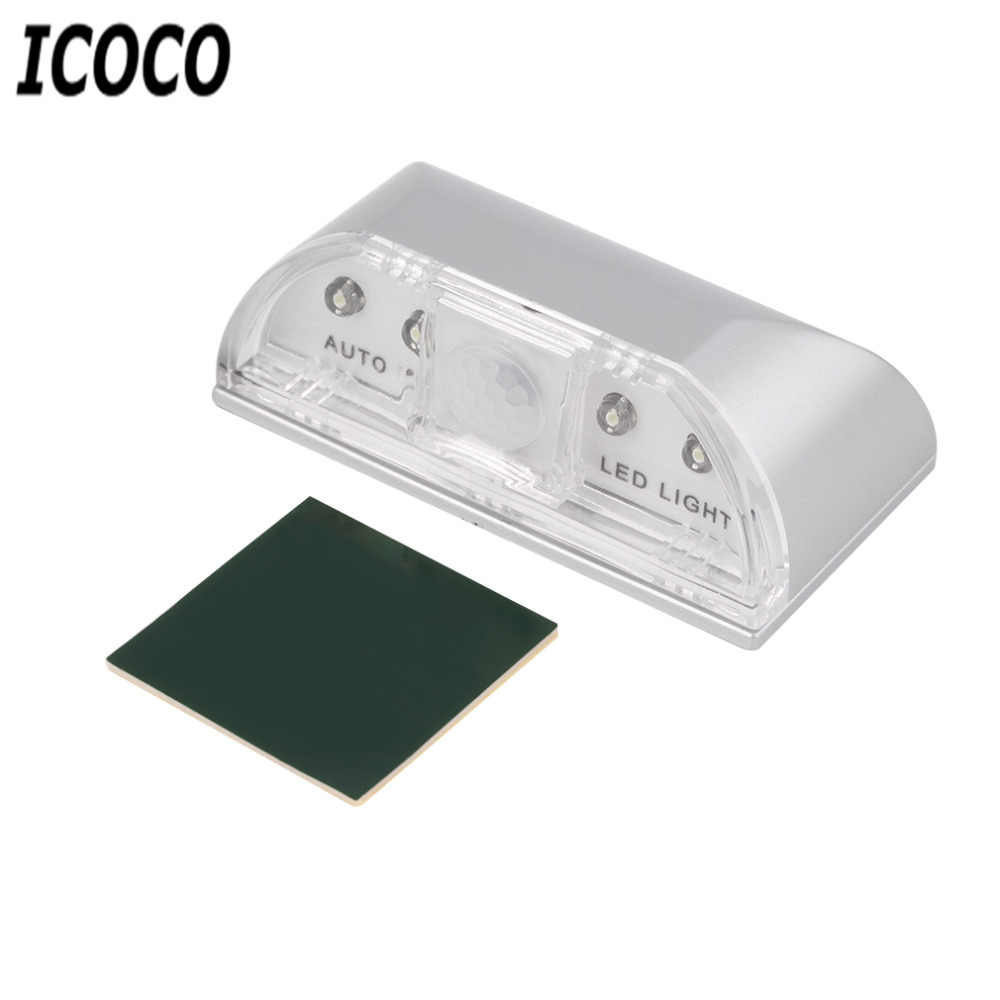 ICOCO 1pc 4 LED PIR Wireless Auto IR Infrared Sensor Motion Detector Key Hole Lamp Ambient Keyhole Light Sensor Promotion Sale