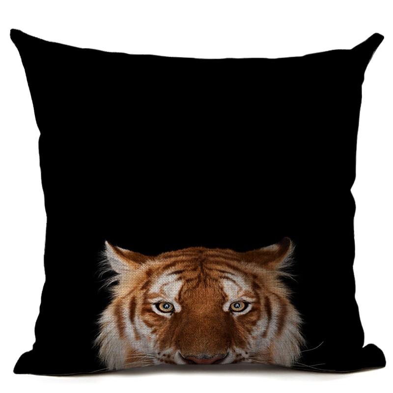 Orginal Tiger Heyvanı Çap olunmuş Kətan Yastığı Avtomobil - Ev tekstil - Fotoqrafiya 3