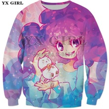 2018 Fashion Cartoon Girl Princess Mens 3d Print Pocket Sweatshirt Autumn Clothes Women/Men Long Sleeve Pullover Unisex S-5XL