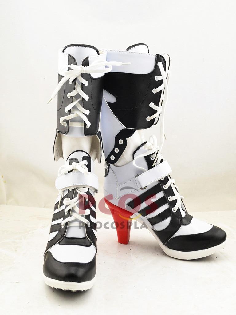 Fashion Set !! Suicide Squad Harley Quinn Cosplay Kostuum & Schoenen - Carnavalskostuums - Foto 5