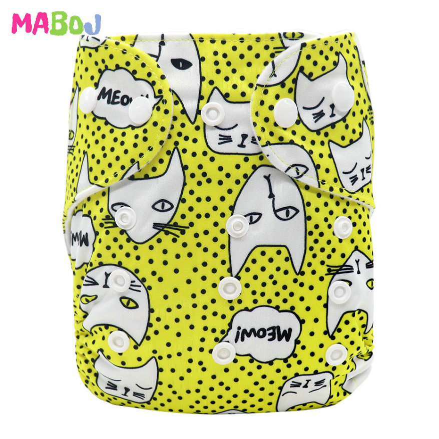 MABOJ Diaper Baby Pocket Diaper Washable Cloth Diapers Reusable Nappies Cover Newborn Waterproof Girl Boy Bebe Nappy Wholesale - Цвет: PD5-5-19