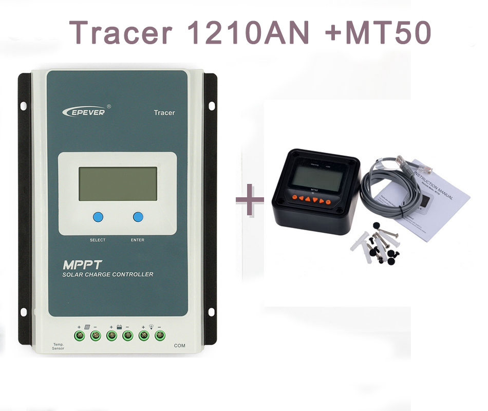 где купить MPPT 10A Solar Charge Controller with MT50 12V 24V Auto 1210A EPEVER Solar Regulator for Max Solar Panel Input Tracer1210AN дешево