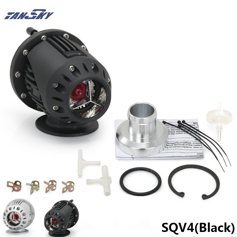 UNIVERSAL BLOW OFF VALVE BOV SQV 4 IV SSQV 4 IV Latest MODEL SILVER/BLACK TK-SQV4 brand new high quality bov turbo blow off valve for hks sqv4 ssqv4 better performance than sqv3 fast delivery