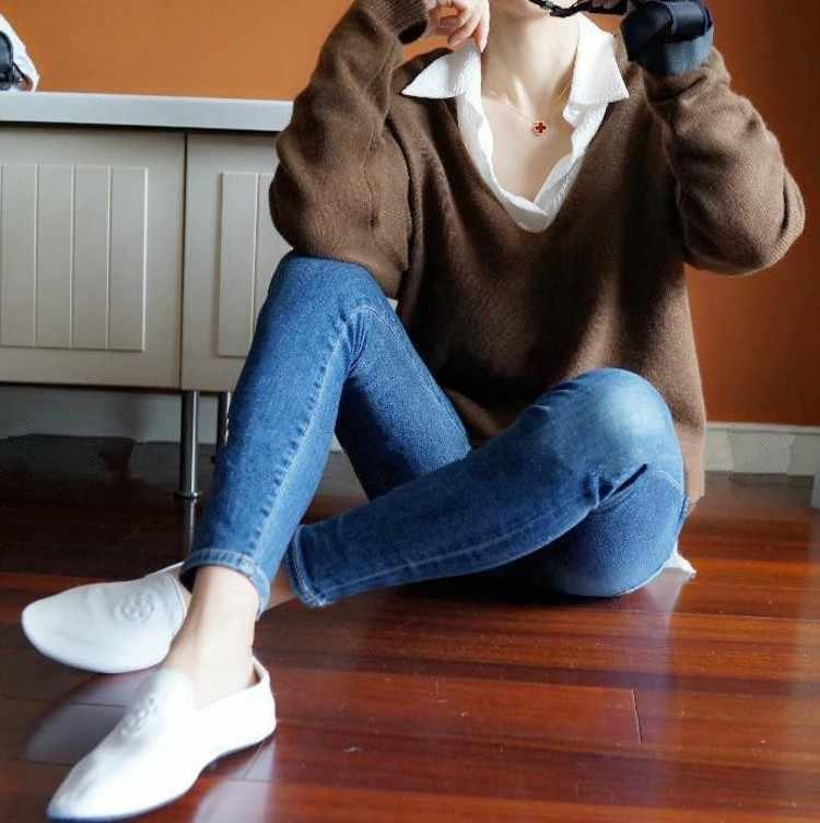 2019 nuevo suéter de Cachemira mujer sexy cuello en V suéter de manga murciélago de moda para mujer
