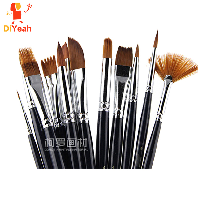 buy 12pcs face paint brushes professional