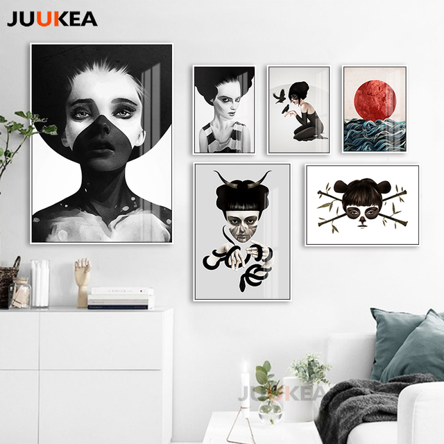 modern vogue black white soul ghost masked bad girl posters and rh aliexpress com