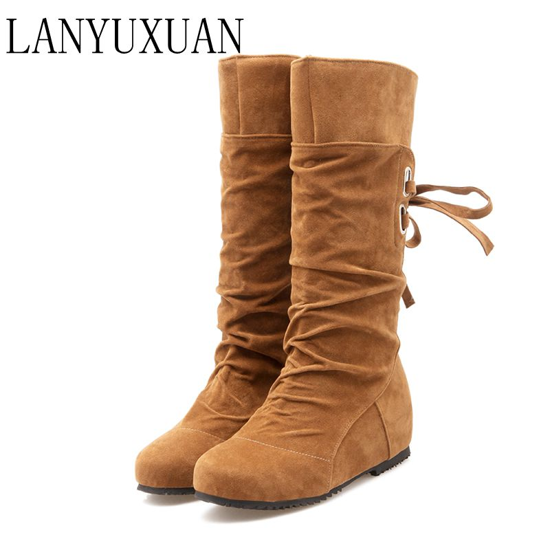 Big size 34-52 style thigh high women woman femininas knee-high boots botas masculina zapatos mujer chaussure femme shoes 506