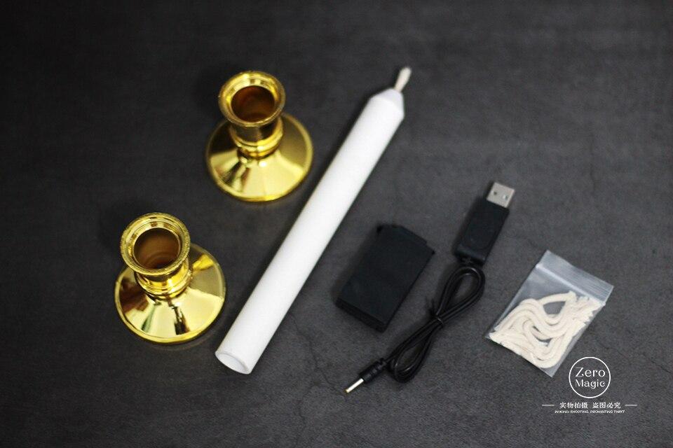 Świeca zdalnego sterowania 2.0 magiczne sztuczki ogień Magie magik etap Bar z bliska iluzje sztuczka rekwizyty przez Jeimin Auto świeca w Sztuczki magiczne od Zabawki i hobby na  Grupa 1