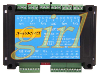 6 input and 6 output relay control panel, 6 switch module, RS232 485, dual serial port RTU.