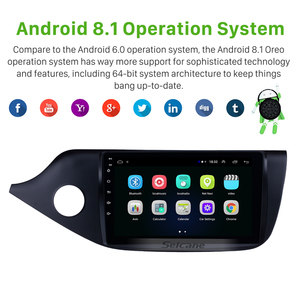 """Image 2 - Seicane Android 8.1 2din 9"""" Car Multimedia Player WIFI Bluetooth GPS Navigation For 2012 2013 2014 Kia Ceed LHD Wifi Head Unit"""