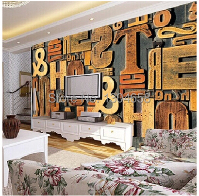 Free shipping custom European 3D large murals Coffee hall KTV wallpaper bar parlor bedroom background wall paper letters free shipping custom 3d mural retro european buildings in paris coffee hall the television background wall wallpaper
