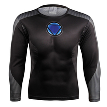 Kern Reaktor Quick Dry Lüften 3D Gedruckt Superhero t-shirt Übung Langarm-shirt Skintight Fahrrad Jersey
