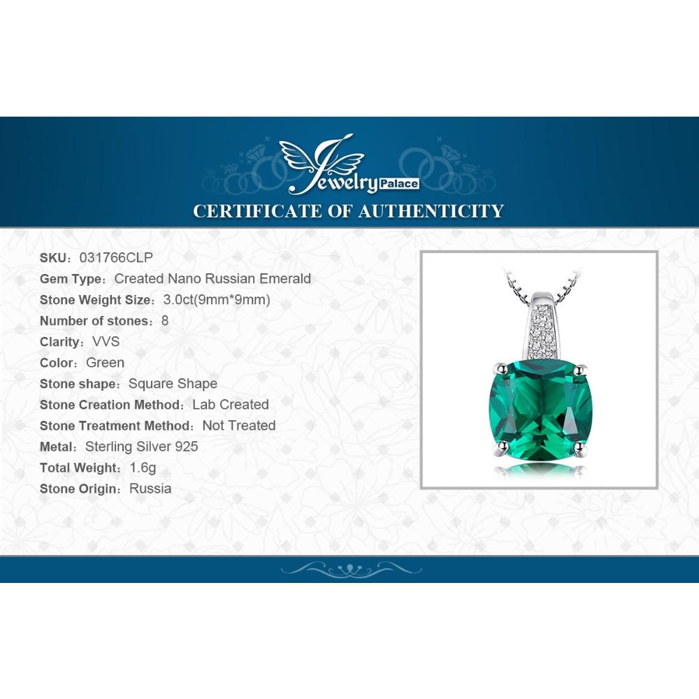 NakitPalace 8.7ct Emerald Ring Privjesak Clip Naušnice Set 925 - Fine nakit - Foto 6