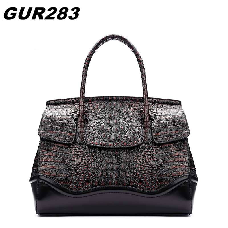 Designer Handbags High Quality Crocodile Genuine Leather Bag Women Famous Brand Shoulder Bags Female messenger bag sac a main 2018 yuanyu 2016 new women crocodile bag women clutches leather bag female crocodile grain long hand bag