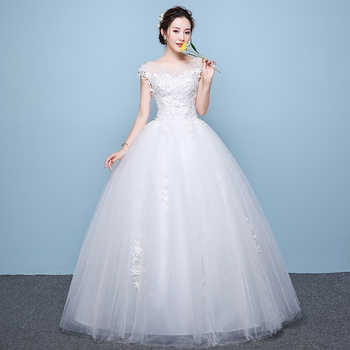 2019 New Simple O Neck Sleeveless Wedding Dress Sexy Backless Lace Applique Plus Size Custom Made Bridal Gown Robe De Mariee L - DISCOUNT ITEM  32 OFF Weddings & Events