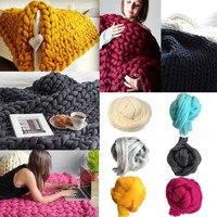 Super Thick Yarn Wool Roving Crocheting DIY Soft Bulky Yarn For Hand Knitting U71108