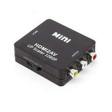 Mini 1080P HDMI To VGA to RCA AV Composite Adapter Converter with 3.5mm Audio VGA2AV / CVBS + Audio to PC HDTV Converter ahd to hdmi vga cvbs converter monitor video to hdmi vga cvbs converter