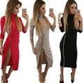 2016 outono e inverno das Mulheres Vestido Casual e Elegante pacote hip sexy Vestido Bainha Bodycon Vestidos plus size Vestidos
