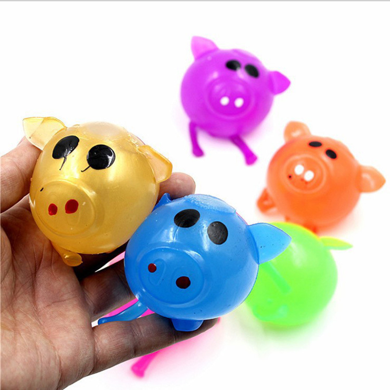 Cute Jelly Pig Stress Relief Toys For Children Soft Water ...