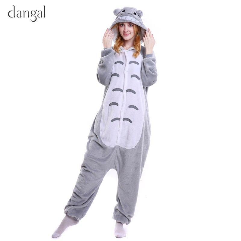 Totoro Kigurumi Pajamas Adult Children Pajamas Kigurumi Children Totoro Onesie Couple Costume Fleece Pajamas for Women Unisex day dress