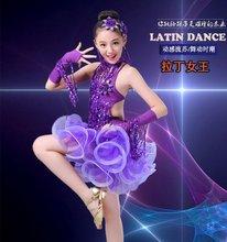Nowa sukienka do tańca towarzyskiego dla dzieci dziewczyna balet taniec dzieci kostiumy do tańca dla dziewczyn taniec Girl kostiumy wydajności Stage Dancewear