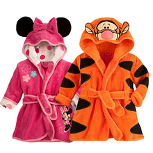 Character Cotton Child Robe kids Bathrobe Children's Roupao Infant 6 Colors Baby Cloth Bath Robe Baby Girls Boys Toddler