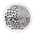 Синева 1 шт. леопардовым принтом ногтей печать из нержавеющей стали плиты маникюр шаблон JH235-53