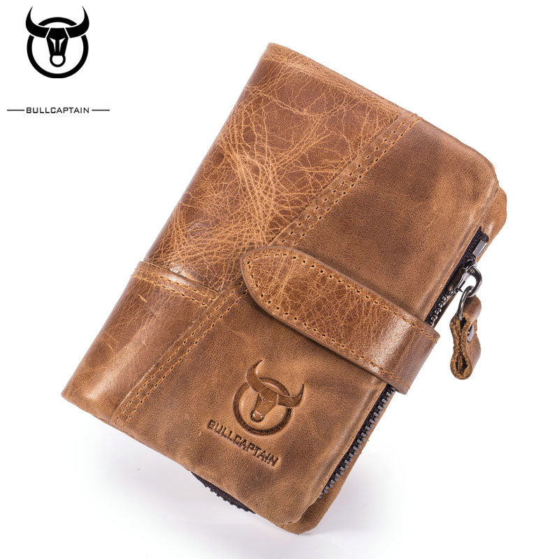 Men Genuine Leather Cowhide Bifold Wallet ID Credit Card Holder Coin Purse US
