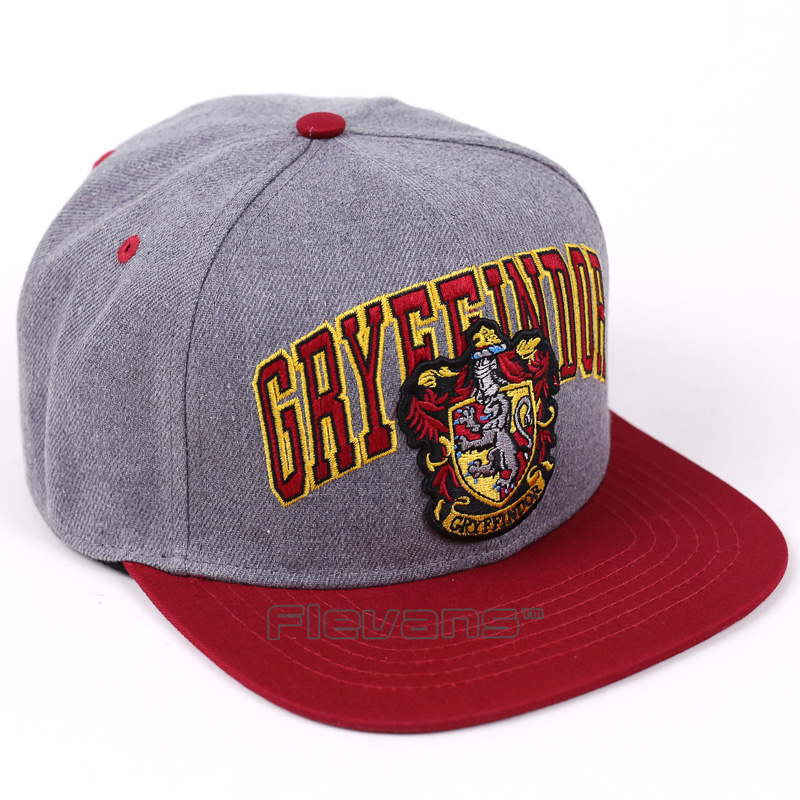 Fashion New Embroidery Adult Baseball Cap Hogwarts Gryffindor Cosplay Hats Men Women Adjustable Hip-Hop Snapback Caps mnkncl new fashion style neymar cap brasil baseball cap hip hop cap snapback adjustable hat hip hop hats men women caps