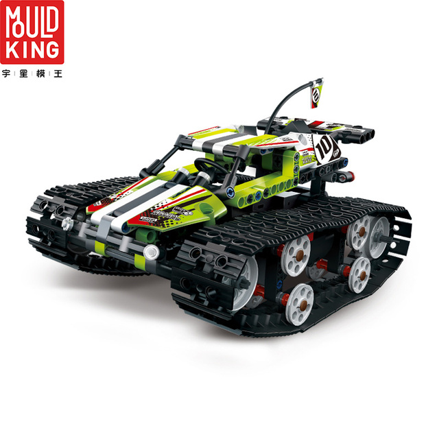 Mould king 13023 rc car app remote control crawler racing car tracked racer building blocks city lepin™ land