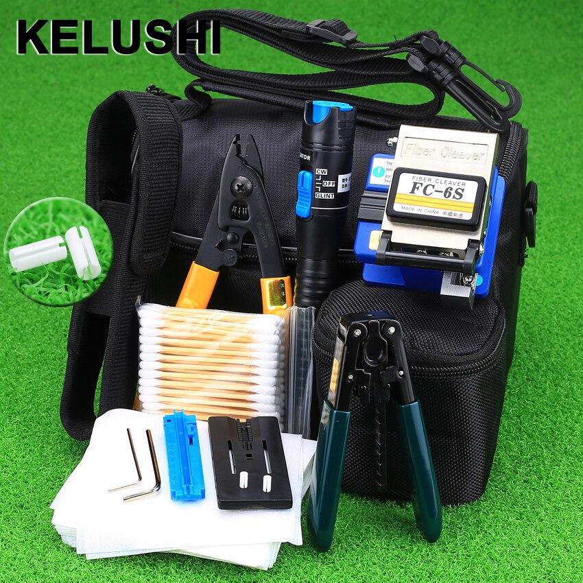 bilder für KELUSHI 13 STÜCKE Praktische FTTH Glasfaser Tool Kit mit FC-6S Faser-spalter und 5 Mw Visuellen Fehlersuch Glasfaser Stripper