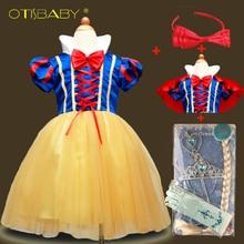 Летние для маленьких девочек Фея Белоснежка воротник принцесса элегантное платье детский костюм Одежда и аксессуары для девочек для дня рождения нарядное платье-пачка