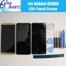 ЖК дисплей Oukitel K5000 + сенсорный экран, 100% оригинальный ЖК дигитайзер, сменная стеклянная панель для Oukitel K5000 + инструмент + клей.